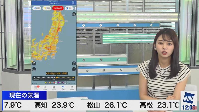 【女子アナキャプ画像】お天気お姉さんのニットおっぱい! 27