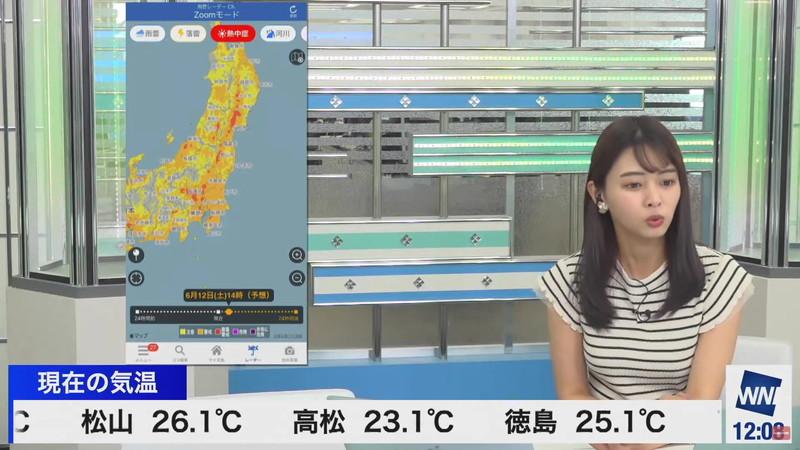 【女子アナキャプ画像】お天気お姉さんのニットおっぱい! 28
