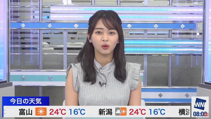 【女子アナキャプ画像】お天気お姉さんのニットおっぱい! 36