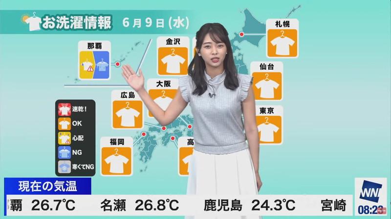 【女子アナキャプ画像】お天気お姉さんのニットおっぱい! 45