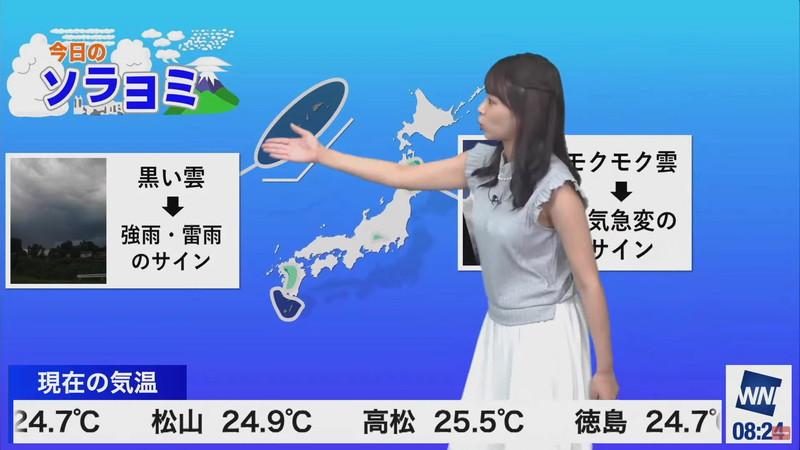 【女子アナキャプ画像】お天気お姉さんのニットおっぱい! 46