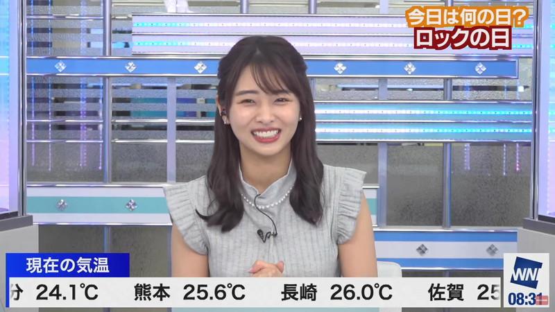 【女子アナキャプ画像】お天気お姉さんのニットおっぱい! 47