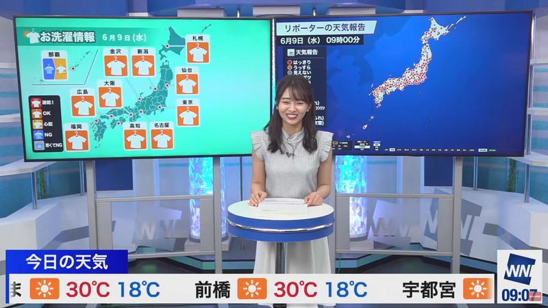 【女子アナキャプ画像】お天気お姉さんのニットおっぱい! 52