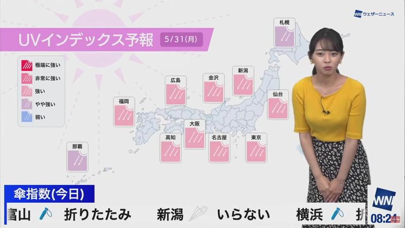 【女子アナキャプ画像】お天気お姉さんのニットおっぱい! 55