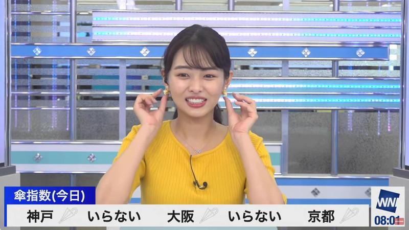 【女子アナキャプ画像】お天気お姉さんのニットおっぱい! 60