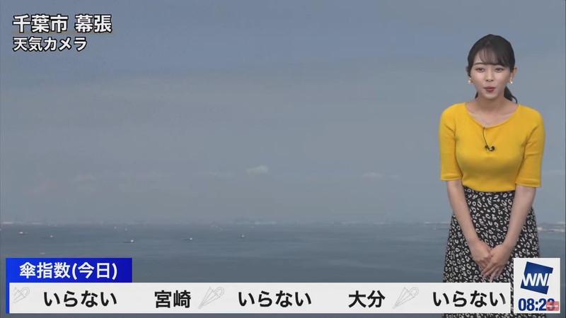 【女子アナキャプ画像】お天気お姉さんのニットおっぱい! 61
