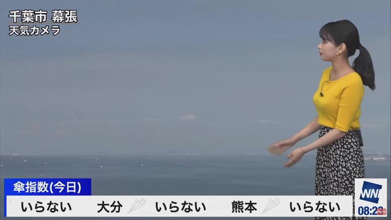 【女子アナキャプ画像】お天気お姉さんのニットおっぱい! 62