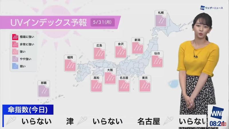 【女子アナキャプ画像】お天気お姉さんのニットおっぱい! 63