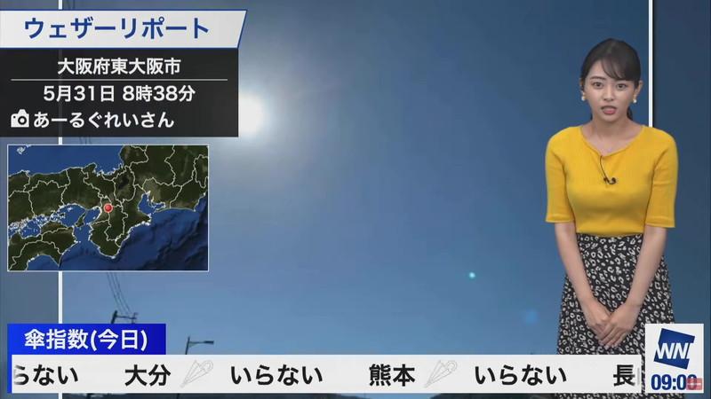 【女子アナキャプ画像】お天気お姉さんのニットおっぱい! 67