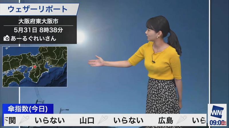【女子アナキャプ画像】お天気お姉さんのニットおっぱい! 68