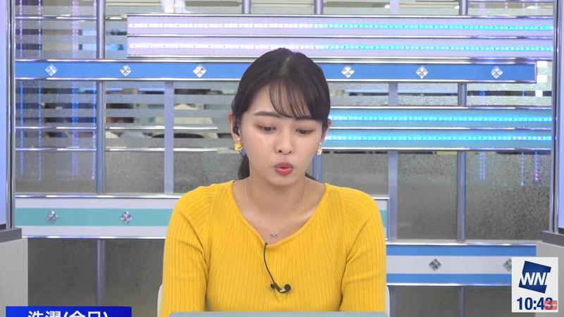 【女子アナキャプ画像】お天気お姉さんのニットおっぱい! 70