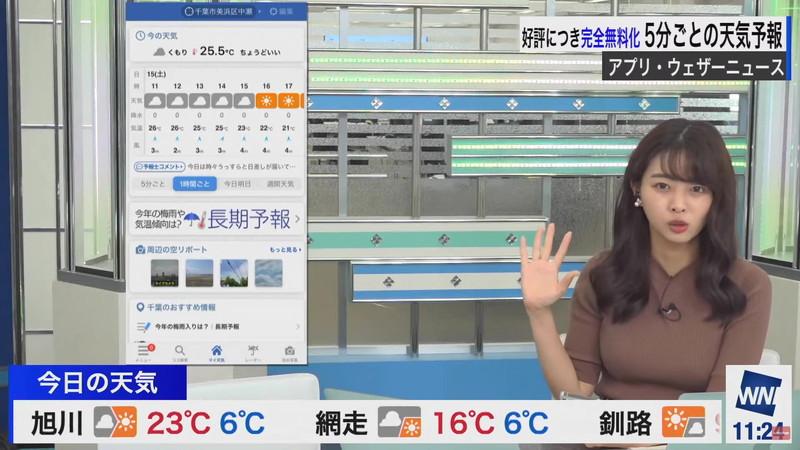 【女子アナキャプ画像】お天気お姉さんのニットおっぱい! 78