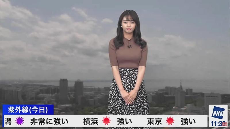 【女子アナキャプ画像】お天気お姉さんのニットおっぱい! 79