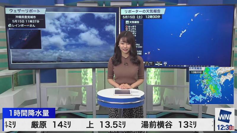 【女子アナキャプ画像】お天気お姉さんのニットおっぱい! 85