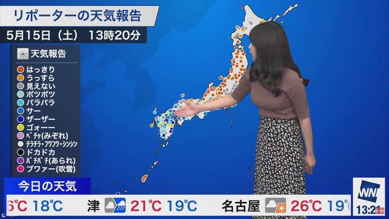 【女子アナキャプ画像】お天気お姉さんのニットおっぱい! 89