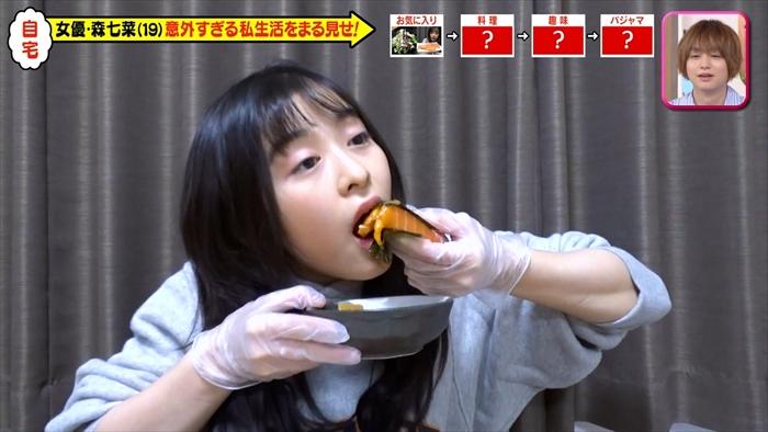 【森七菜キャプ画像】なんかこの女優って食レポばっかりしてるなw 71