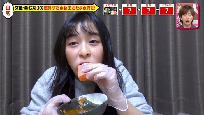 【森七菜キャプ画像】なんかこの女優って食レポばっかりしてるなw 73