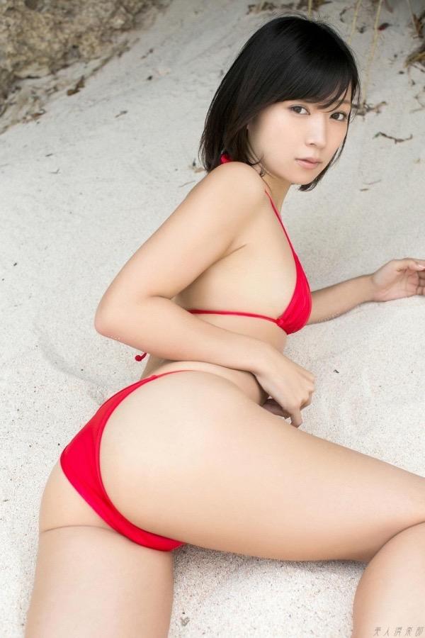 【赤水着を着た美女画像】新年からおめでたい感じの赤水着を着た美女エロ画像 78