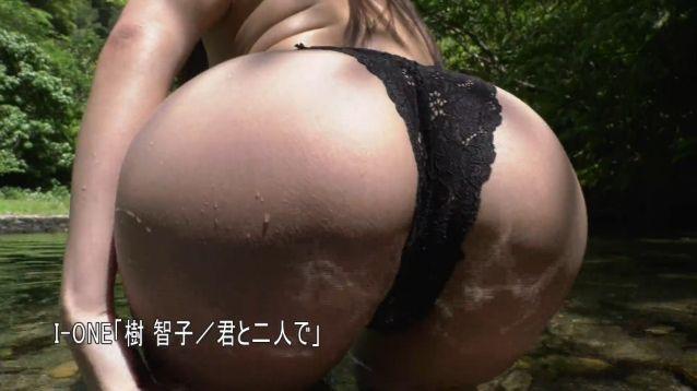【樹智子エロ画像】Gカップ巨乳とそれ以上にデカ尻がエッチ過ぎる豊満グラビアアイドル! 07