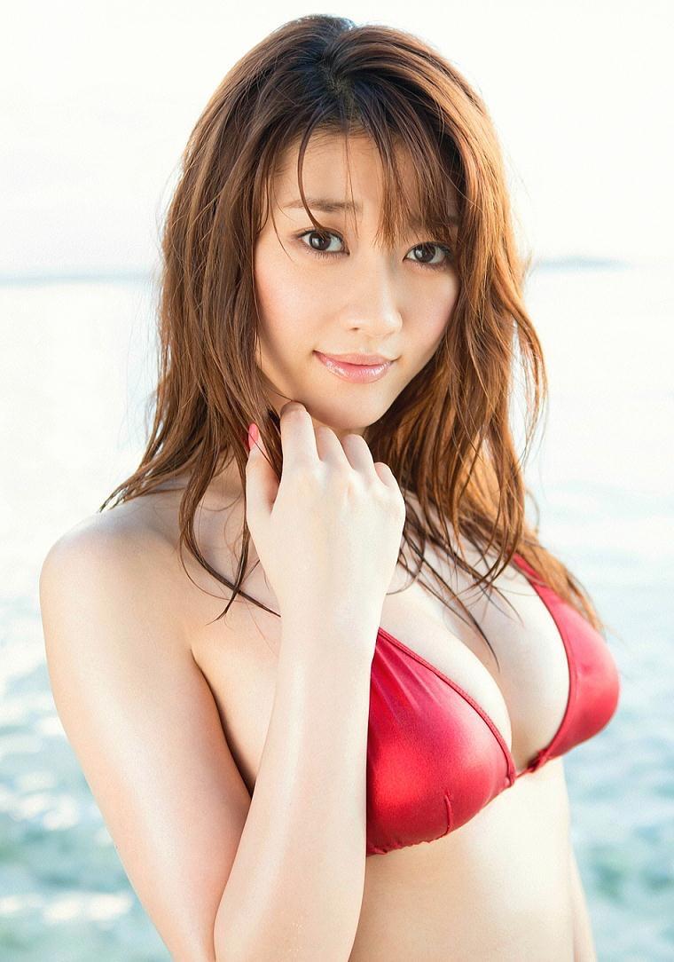 【原幹恵グラビア画像】突然休業してしまったGカップ巨乳美人女優のめちゃシコボディ! 32