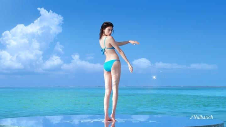 【森星キャプ画像】175cmの長身ボディが美しいファッションモデルのTVCM画像 13