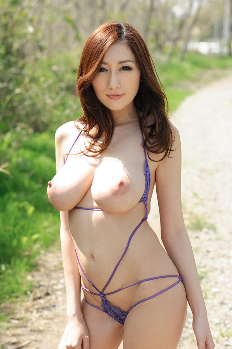 【JULIAグラビア画像】色白Jカップ美爆乳がめちゃシコな美人AV女優のヘアヌード! 55