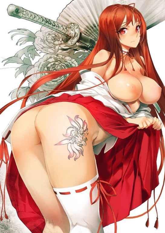 【巫女二次元画像】可愛くてエッチな美少女キャラクターが巫女に扮したエロ画像 19