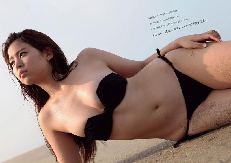 【西崎莉麻エロ画像】スレンダーなクビレボディにEカップ巨乳がエロいグラビアアイドル 10
