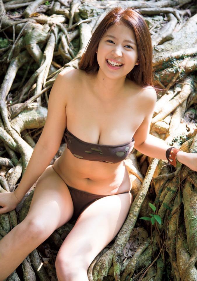 【西崎莉麻エロ画像】スレンダーなクビレボディにEカップ巨乳がエロいグラビアアイドル 45