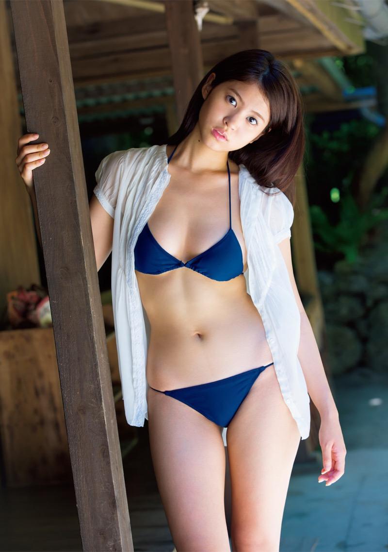 【西崎莉麻エロ画像】スレンダーなクビレボディにEカップ巨乳がエロいグラビアアイドル 63