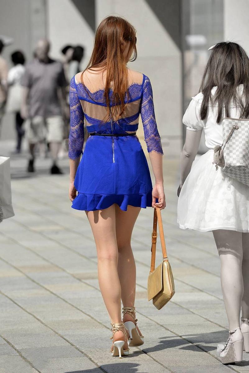 【ミニスカエロ画像】春になってパンチラも気にせずミニスカートに穿き替える素人娘たち 74