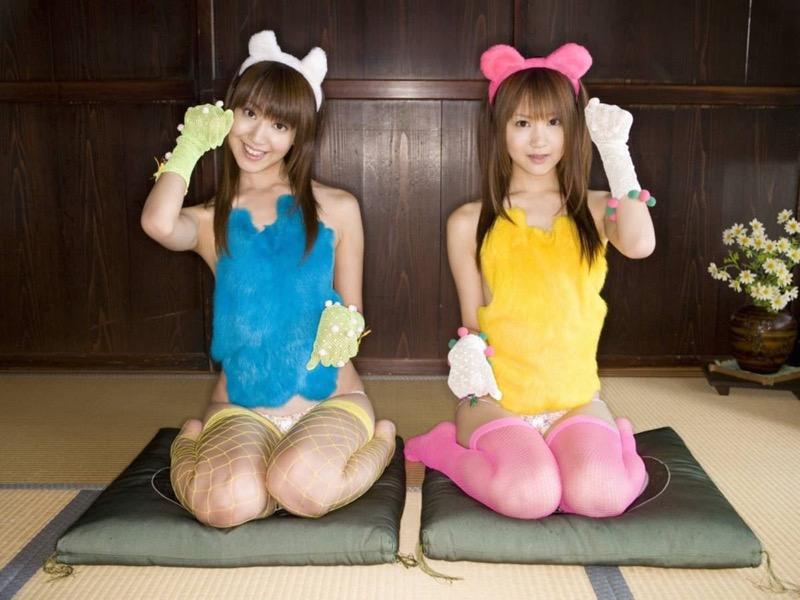 【グラビア姉妹エロ画像】浜田翔子&浜田コウのお茶目でちょっとHなWグラビア画像