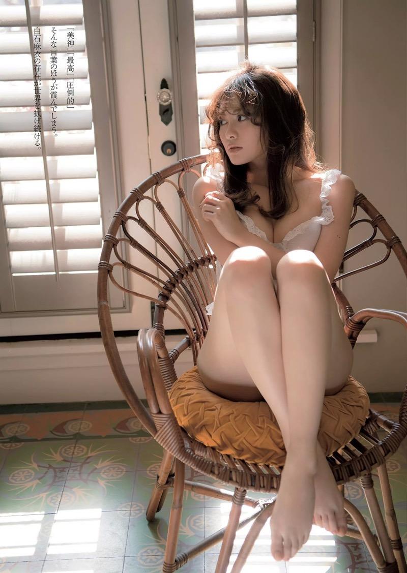 【白石麻衣グラビア画像】ウエスト59cmのくびれボディがエロい乃木坂46アイドル 66