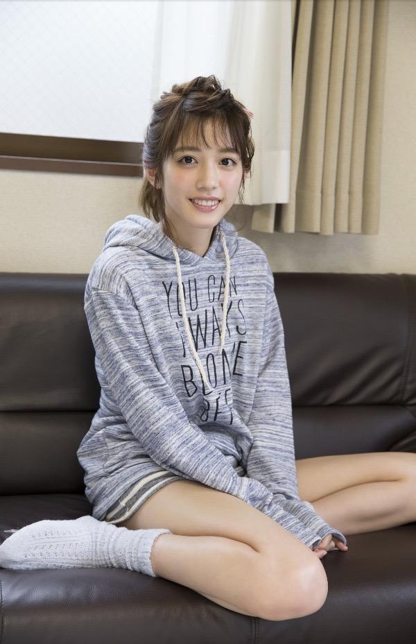 【松田るかグラビア画像】癒し系の優しい笑顔と色白なくびれボディがエロい美人女優のグラビア! 51