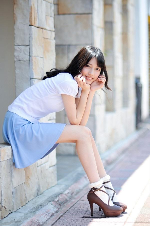 【松田るかグラビア画像】癒し系の優しい笑顔と色白なくびれボディがエロい美人女優のグラビア! 62