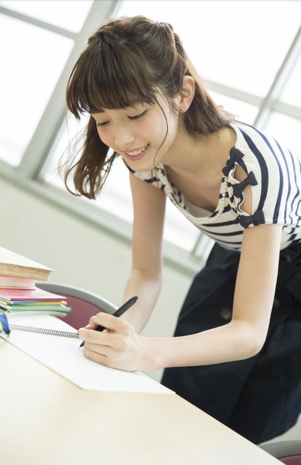 【松田るかグラビア画像】癒し系の優しい笑顔と色白なくびれボディがエロい美人女優のグラビア! 69