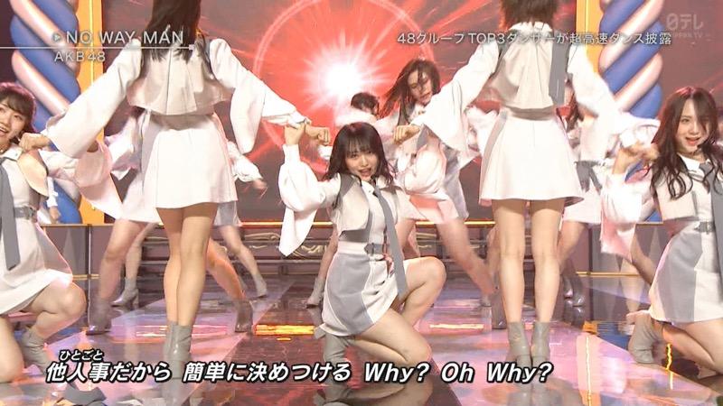 【AKBパンチラ画像】集団で生足やパンチラを見せながら踊るスケベなアイドル集団! 52