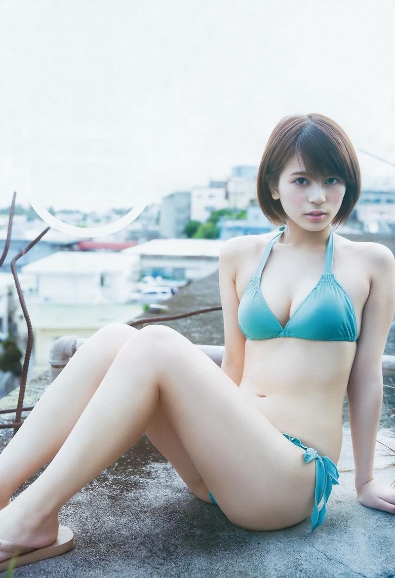 【吉崎綾エロ画像】ショートヘアが似合って可愛いクォーター美女の水着グラビア! 22