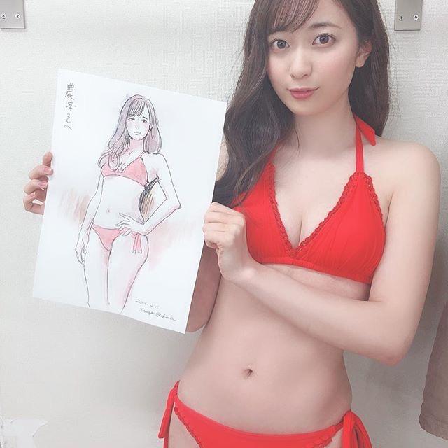 【農海姫夏エロ画像】へそ出しレースクイーン衣装がエロい現役女子大生グラビアアイドル! 65