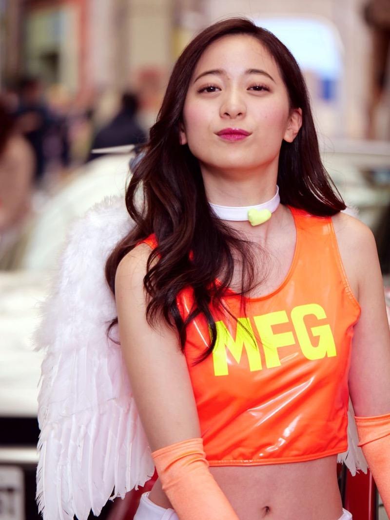 【農海姫夏エロ画像】へそ出しレースクイーン衣装がエロい現役女子大生グラビアアイドル! 74