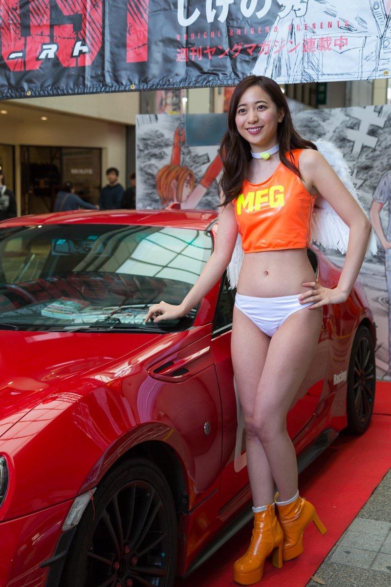 【農海姫夏エロ画像】へそ出しレースクイーン衣装がエロい現役女子大生グラビアアイドル! 76