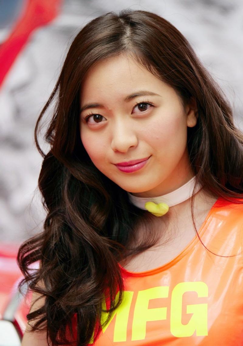 【農海姫夏エロ画像】へそ出しレースクイーン衣装がエロい現役女子大生グラビアアイドル! 79