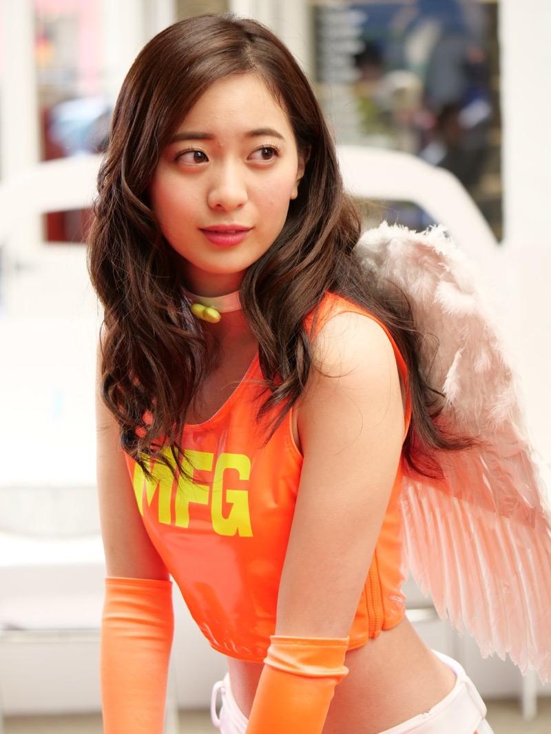 【農海姫夏エロ画像】へそ出しレースクイーン衣装がエロい現役女子大生グラビアアイドル! 80