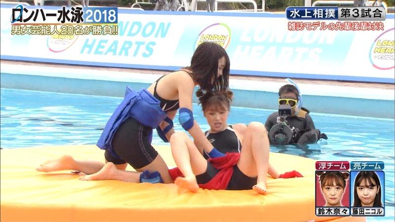 【鈴木奈々キャプ画像】ファッションモデルの体当たり過ぎるバラエティ出演シーンの数々! 07