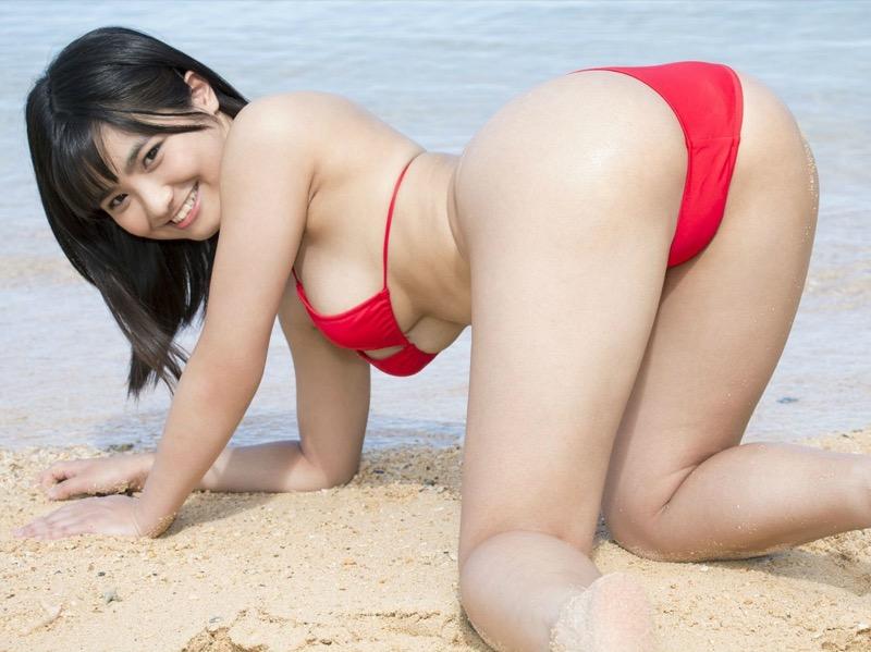 【片岡沙耶グラビア画像】乳房のホクロがセクシーでエロいバスト90cmのGカップ巨乳グラドル! 76