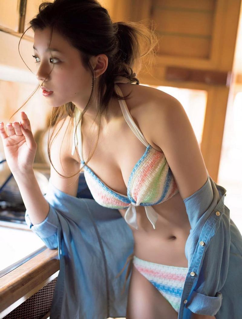 【朝比奈彩エロ画像】高身長ボディでビキニ姿が綺麗に映えるファッションモデルのグラビア! 57