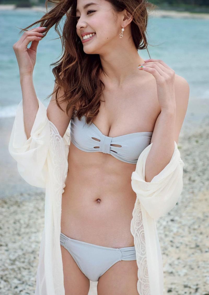 【朝比奈彩エロ画像】高身長ボディでビキニ姿が綺麗に映えるファッションモデルのグラビア! 70