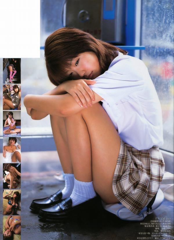 【吉田亜咲グラビア画像】現役女子高生としてデビューした長身エロボディのグラビアアイドル 33