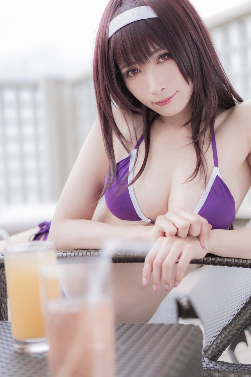 【伊織もえエロ画像】アニメやゲームキャラクターに扮した姿が可愛くてエロい美人コスプレイヤー 56