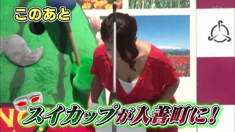 【古瀬絵理エロ画像】自慢のスイカップを存分に活かしてテレビで見せまくる爆乳女子アナウンサー 75